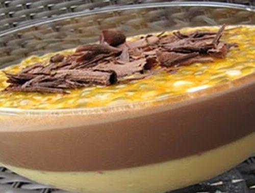 Mousse de Maracujá com Chocolate: uma combinação que dá certo