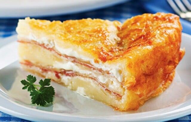 Receita de torta pão de queijo