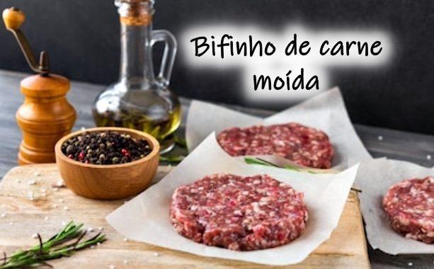 Bifinho de Carne Moída: muito fácil de preparar