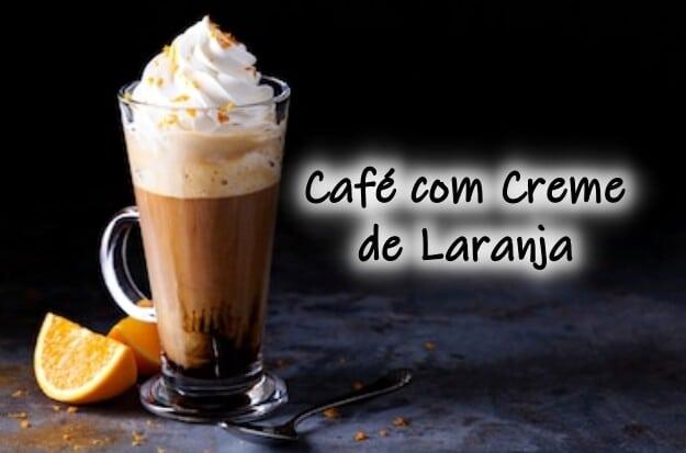 Café com creme de laranja