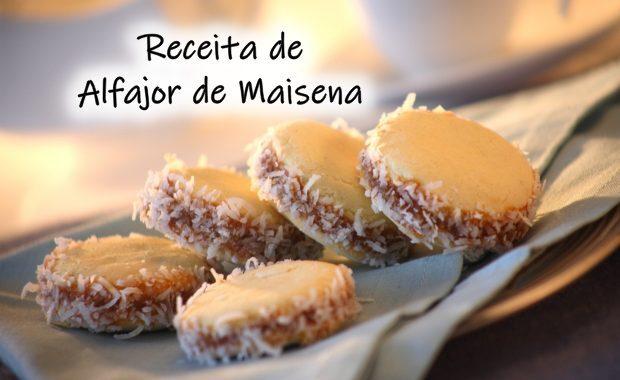 Alfajor de Maisena – recheada com doce de leite e coco ralado