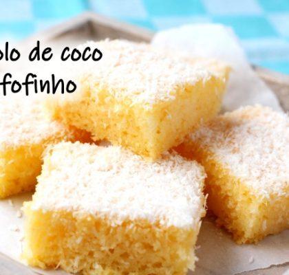 Receita de bolo de coco fofinho