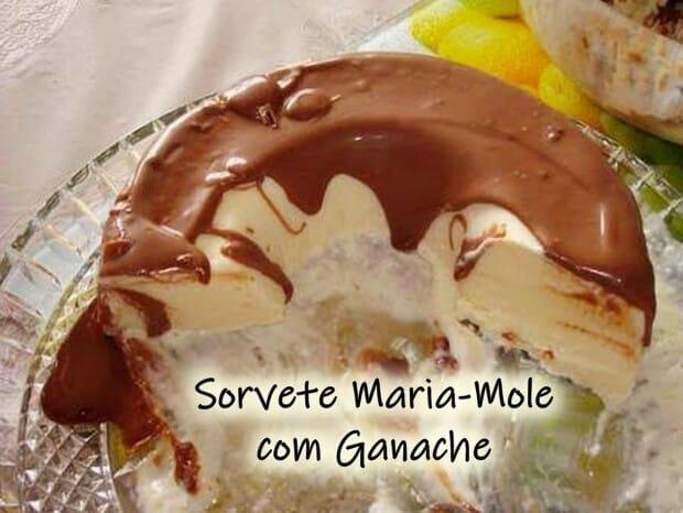 Sorvete Maria-Mole com Ganache