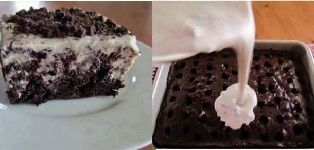 Bolo de Chocolate com Cobertura de Creme de Pudim