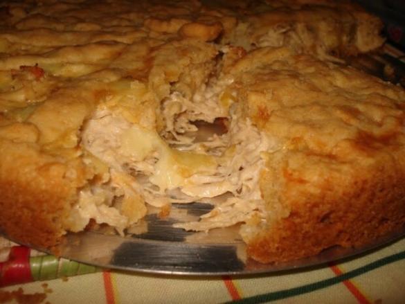 Torta de frango com queijo
