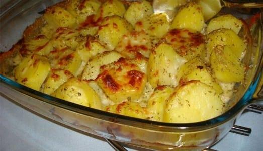 Receita de batata gratinada de microondas