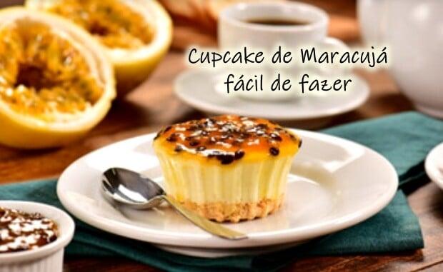Cupcake de maracujá