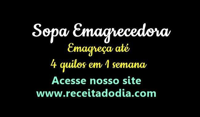 Sopão da Ana Braga – Emagreça até 4 quilos em 1 Semana