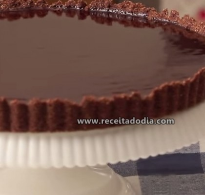 torta de chocolate receita do dia