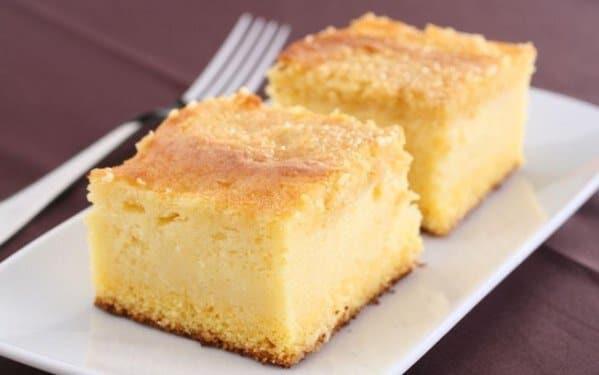 Um bolo com consistência de bom-bocado. (Foto: Divulgação)