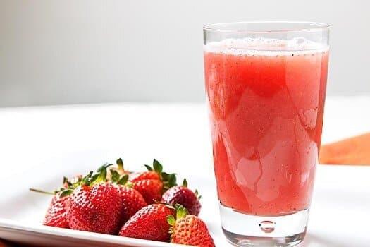 Suco de morango afrodisíaco. (Foto: Divulgação)