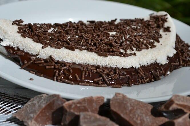 Tapioca de chocolate. (Foto: Divulgação)