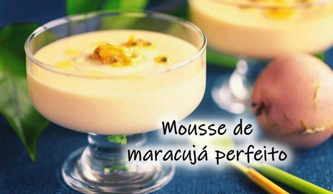 Mousse de Maracujá Perfeito