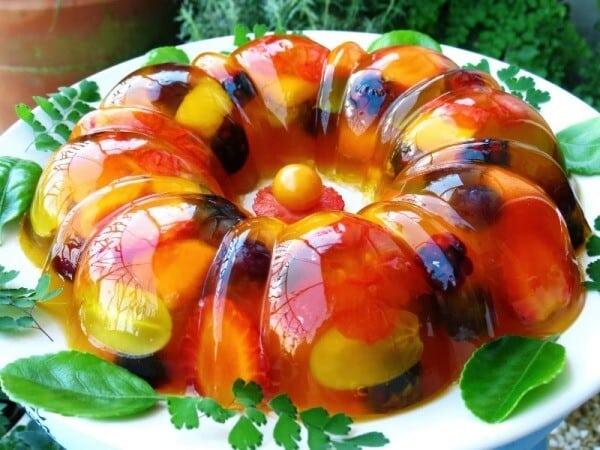 Resultado de imagem para gelatina de frutas