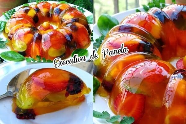 gelatina com frutas 6