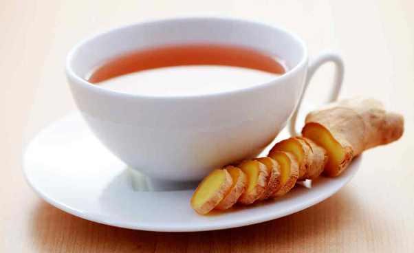 Chá de gengibre.