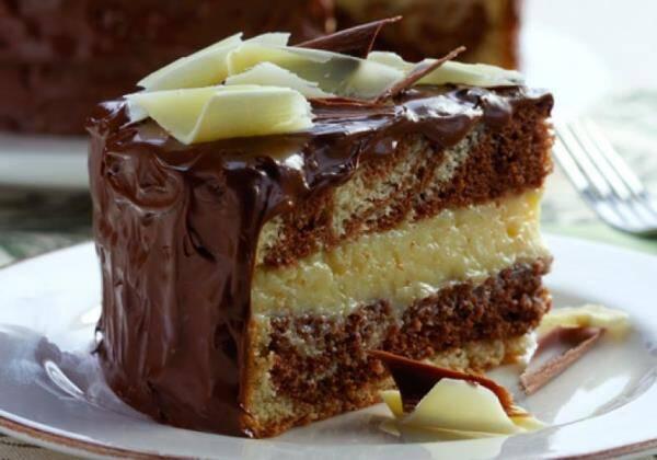 Aprenda a fazer um delicioso bolo mesclado recheado. (Foto: Divulgação)