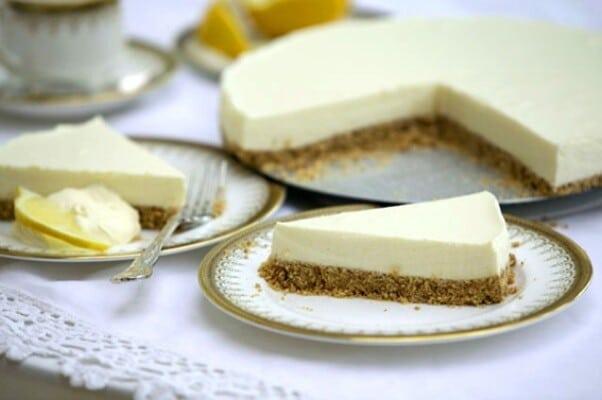 Cheesecake de limão fácil 1
