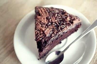 Bolo de pudim de chocolate