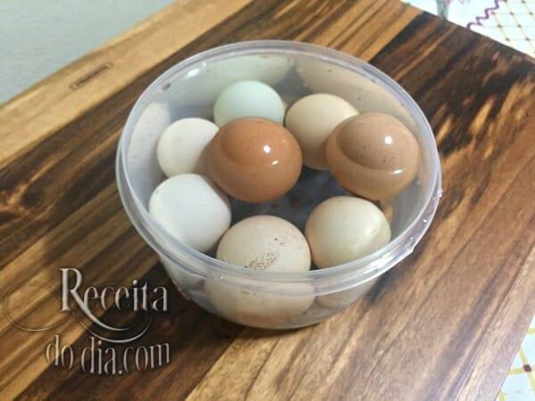 teste se os ovos são frescos