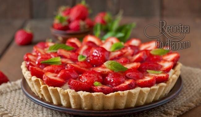 Torta de morango –  Saudável e leve