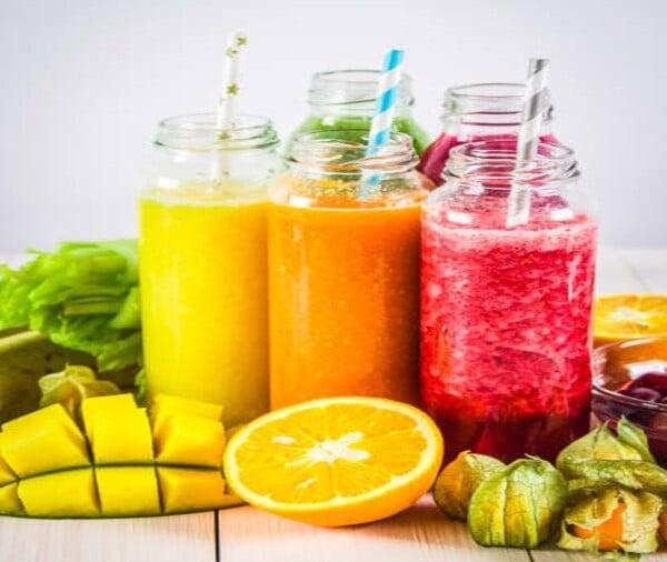 Vitaminas e sucos rejuvenescedores
