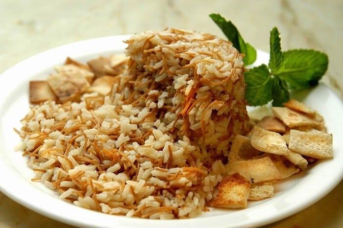 receita de arroz sirio