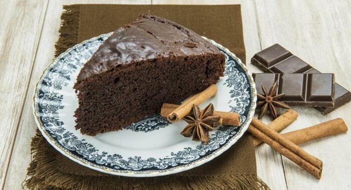 Bolo de chocolate com canela