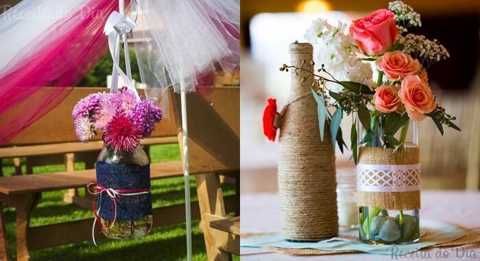 DIY garrafas e vidros – Recicle garrafas para decorar