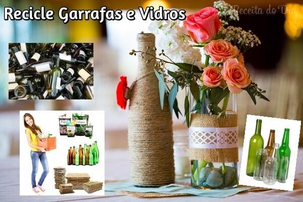 recicle garrafas e vidros
