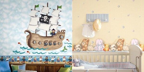 papel de parede para quarto de bebê 5