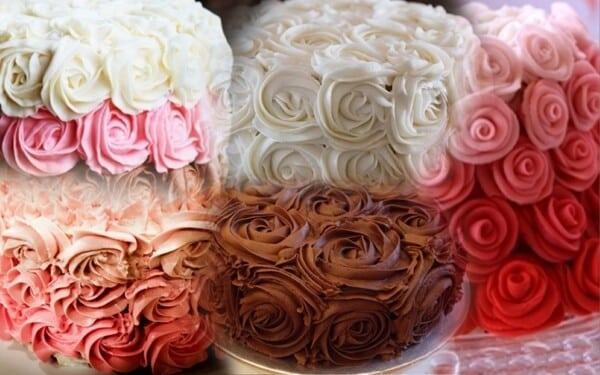 Bolo de rosas 13