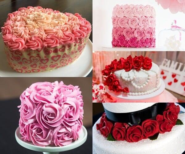 bolo de rosas