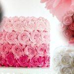 Bolo de rosas passo a passo