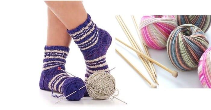 meias de lã em croche