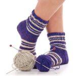 Meias de lã em crochê