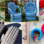 Reciclar pneus velhos para decoração