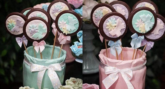 Pirulitos decorados – Pirulitos de chocolate decorados