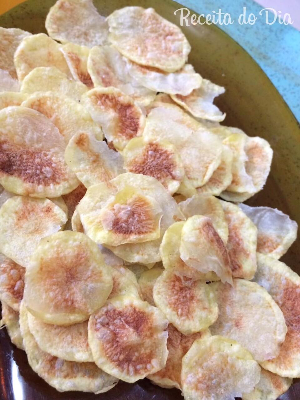 Batata frita de microondas