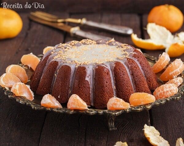 Receita de bolo de tangerina com calda
