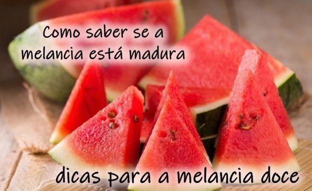 Como saber se a melancia está madura: dicas para a melancia doce
