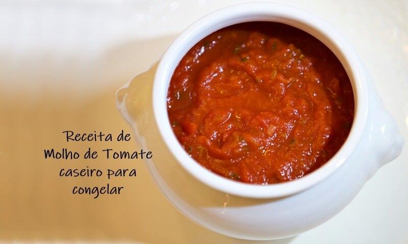 RECEITA DE MOLHO DE TOMATE caseiro para congelar