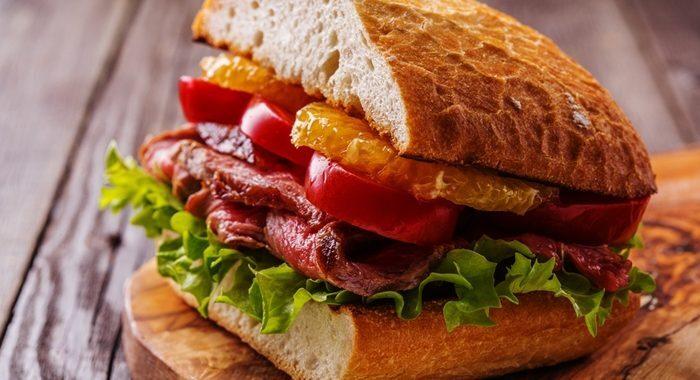 Receita de Sanduíche de Rosbife: rico em proteínas