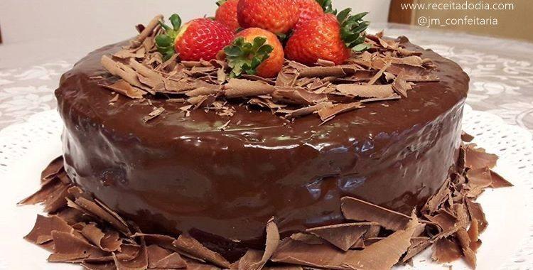 Receita de bolo de chocolate para o Natal