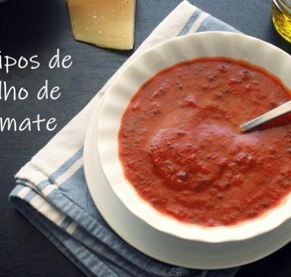 3 Tipos de Molho de Tomate