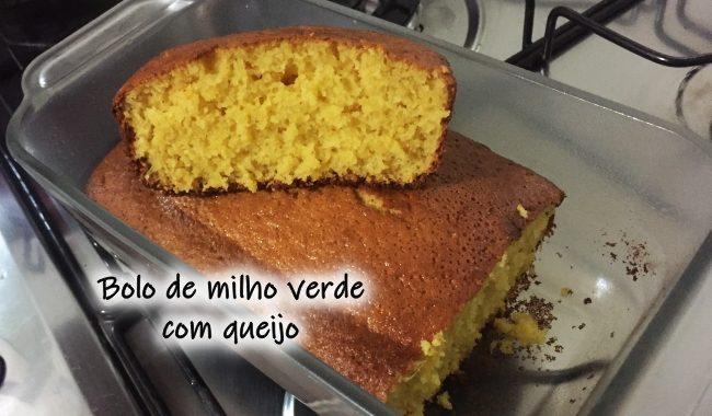Bolo de milho verde com queijo: bolo fofinho e delicioso