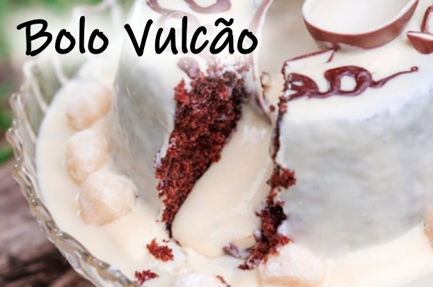 Receita de bolo vulcão