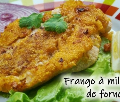 Frango à milanesa de forno