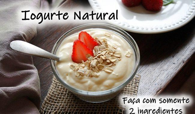 Iogurte Natural: somente 2 ingredientes e fácil de fazer