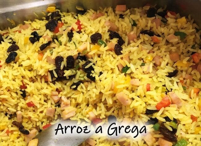 Receita de arroz a grega